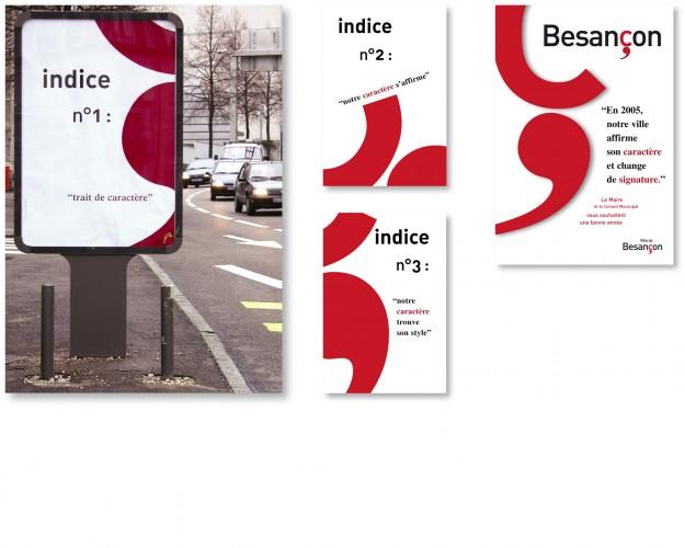 campagne d'affichage pour le lancement de la nouvelle identité visuelle
